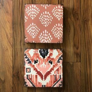 Other - Boho Wall Decor Plaque Dots and Southwest Set of 2